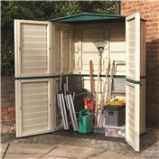 5ft x 3ft Rowlinson Plastic Tall Shed (1.51m x 0.83m)