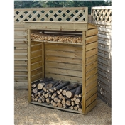 "3ft 7"" x 1ft 8"" Deluxe Small Log Store"