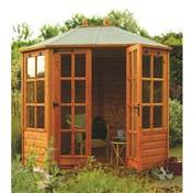 Ryton 8ft x 6ft  Octagonal Rowlinson Summerhouse (12mm T&G Floor & Roof)