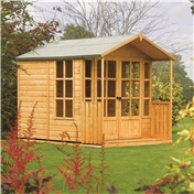 8ft x 7ft Deluxe Arley Summerhouse (12mm Tongue and Groove Floor and Roof)