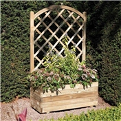 Deluxe Rectangular Planter and Lattice