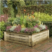 4ft x 4ft Deluxe Raised Planter