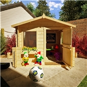 Eclipse Playhouse 6ft x 6ft Log Cabin - 28mm Wall Thickness