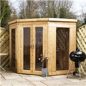 7ft x 7ft Premier Solis Corner Summerhouse (12mm T&G Floor & Roof) - 48HR & SAT Delivery*