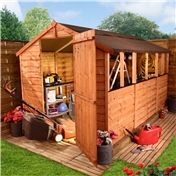 10FT x 6FT VALUE (RUSTIC) OVERLAP APEX SHED (10mm Solid OSB Floor & Roof)