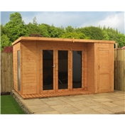 12ft x 8ft Contempory Gardenroom Large Combi (12mm T&G Floor & Roof) - 48HR & SAT Delivery*