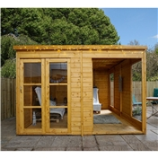 10ft x 10ft Poolhouse Summerhouse (12mm T&G Floor & Roof) - 48HR & SAT Delivery*