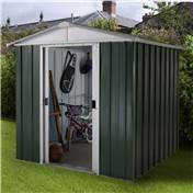"Yardmaster 6'1"" x 4'1"" GEYZ Apex Metal Shed With FREE Anchor Kit (1.86m x 1.25m)"