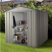 "Yardmaster 6'1"" x 6'10"" GEYZ Apex Metal Shed With FREE Anchor Kit (1.86m x 2.07m)"