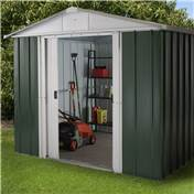 "Yardmaster 7'5"" x 8'9"" GEYZ Apex Metal Shed With FREE Anchor Kit (2.26m x 2.67m)"