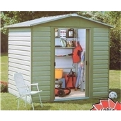 "Yardmaster Shiplap 7'5"" x 6'1"" Apex Metal Shed + Free Anchor Kit (1.86m x 2.26m)"