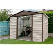 "Yardmaster Shiplap 9'4"" x 12' Apex Metal Shed + Free Anchor Kit (2.85m x 3.67m)"