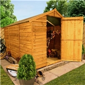 10FT x 6FT WINDOWLESS VALUE (RUSTIC) OVERLAP APEX SHED (10mm Solid OSB Floor & Roof)