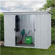 "5' 11"" x 3' 5"" Pent Metal Shed + FREE ANCHOR KIT (1.84m x 1.04m)"