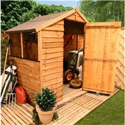 4FT x 6FT VALUE (RUSTIC) OVERLAP APEX SHED (10mm Solid OSB Floor & Roof)