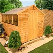 6FT x 6FT VALUE (RUSTIC) OVERLAP APEX SHED (10mm Solid OSB Floor & Roof)