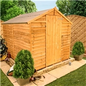 6FT x 6FT WINDOWLESS VALUE (RUSTIC) OVERLAP APEX SHED (10mm Solid OSB Floor & Roof)