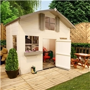 Kids Barn Dutch Barn 2 Storey 5ft x 7ft Playhouse