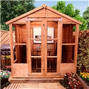 6ft x 4ft Antigua Tongue & Groove Summerhouse (10mm Solid OSB Floor & Roof)