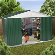 10ft x 8ft Value Metal Shed (3.22m x 2.43m) + FREE 72HR DELIVERY*