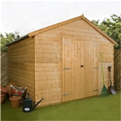 10ft x 10ft Deluxe Tongue & Groove Windowless Double Door Workshop (12mm T&G Floor & Roof) ***extended Delivery Typically 14 Working Days As Treated As Special - Please See Product Page For More Info