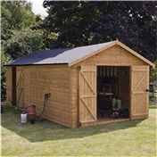 20ft x 10ft Windowless Deluxe Tongue & Groove Workshop + Extra Side Door (12mm T&G Floor) ***extended Delivery Typically 14 Working Days As Treated As Special - Please See Product Page For More Info