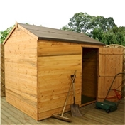 6ft x 8ft Windowless Tongue And Groove Reverse Apex Shed (10mm Solid OSB Floor) ***extended Delivery Typically 10 Working Days As Treated As Special - Please See Product Page For More Info