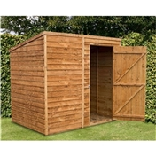 7ft x 5ft Windowless Super Saver Overlap Pent Shed (10mm Solid OSB Floor) ***extended Delivery Typically 14 Working Days As Treated As Special - Please See Product Page For More Info