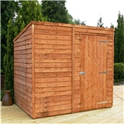 8ft x 6ft Windowless Super Saver Overlap Pent Shed (solid 10mm OSB Floor) ***extended Delivery Typically 14 Working Days As Treated As Special - Please See Product Page For More Info