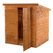 6ft x 4ft Windowless Tongue and Groove Pent Wooden Shed (10mm Solid OSB Floor) ***extended Delivery Typically 14 Working Days As Treated As Special - Please See Product Page For More Info