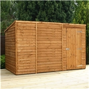 10ft x 6ft Windowless Super Saver Overlap Pent Shed with Single Door (10mm Solid OSB Floor) ***extended Delivery Typically 14 Working Days As Treated As Special - Please See Product Page For More Info