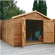 10ft x 10ft Windowless Super Saver Overlap Apex Workshop (10mm Solid OSB Floor) ***extended Delivery Typically 14 Working Days As Treated As Special - Please See Product Page For More Info