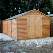 20ft x 10ft Windowless Super Saver Overlap Apex Workshop (10mm Solid OSB Floor) ***extended Delivery Typically 14 Working Days As Treated As Special - Please See Product Page For More Info