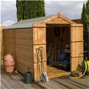 10ft x 6ft Windowless Tongue & Groove Apex Shed With Double Doors (10mm Solid OSB Floor) ***extended Delivery Typically 14 Working Days As Treated As Special - Please See Product Page For More Info