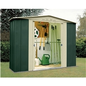 **PRE ORDER - DUE BACK IN STOCK END OF AUGUST** 8ft x 3ft Premier Eight Metal Shed (2.45m x 0.92m)