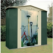 6ft x 3ft Deluxe Six Metal Shed (1.83m x 0.92m)