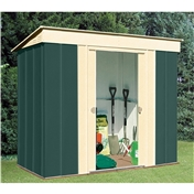 **PRE ORDER - DUE BACK IN STOCK END OF AUGUST** 8ft x 4ft Premier Pent Metal Shed (2.46m x 1.23m)