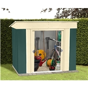 6ft x 4ft Deluxe Low Pent Metal Shed (1.84m x 1.23m)