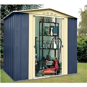 6ft x 5ft Deluxe Blue Metal Shed (1.83m x 1.54m)