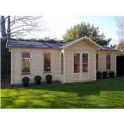 PREMIER 28ft x 15ft (8.5 x 4.5m) MORZINE Log Cabin - Base Price for 44mm Wall Thickness