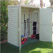 **PRE ORDER - DUE BACK IN STOCK 28TH JULY** 5ft x 3ft Duramax Plastic PVC Shed With Steel Frame (1.73m x 0.97m) + Floor