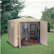 8ft x 8ft Duramax Plastic Pvc Shed With Steel Frame (2.39m x 2.39m)