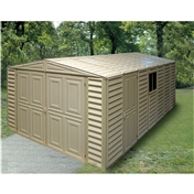 **PRE ORDER - DUE BACK IN STOCK 10TH NOVEMBER** 10ft x 18ft Duramax Plastic Pvc Garage With Steel Frame (3.22m x 5.59m)