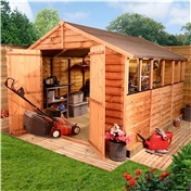 10FT x 8FT VALUE (RUSTIC) OVERLAP APEX SHED (10mm Solid OSB Floor & Roof)