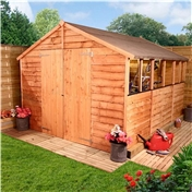 12FT x 8FT VALUE (RUSTIC) OVERLAP APEX SHED (10mm Solid OSB Floor & Roof)