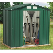 6ft x 6ft Premier All Green Metal Shed (2.01m x 1.23m) + FREE 72HR DELIVERY*