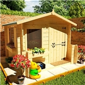 Eclipse Log Cabin Playhouse 6ft x 6ft - 19mm Wall Thickness