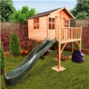 Pluto Tower Playhouse 5ft x 6ft  With Slide