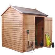 6ft x 6ft Windowless Reverse Overlap Apex Shed with Single Door (10mm Solid Osb Floor) ***extended Delivery Typically 14 Working Days As Treated As Special - Please See Product Page For More Info
