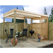 Barbecue Wooden Garden Shelter (2.39m x 3.50m) - 48HR + SAT Delivery*